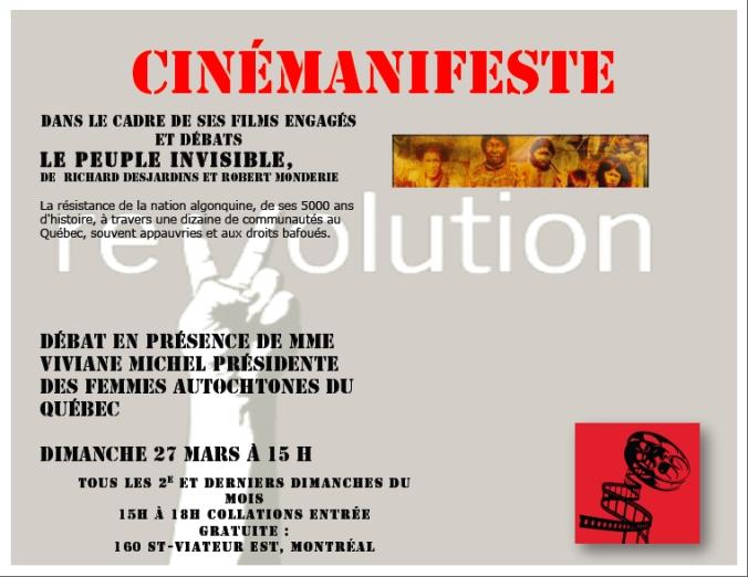 cinémanifeste 27 mars 2016