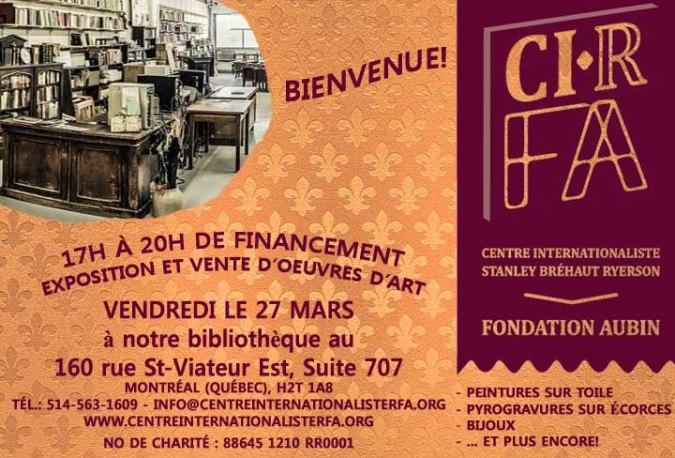 Foire Arts financement 27 mars 2015