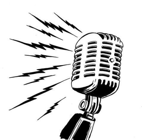 Microfone engagé